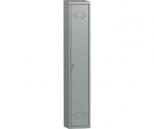 Металлический шкаф для одежды Практик LS-01, 1 секция, полка, перекладина, крючки