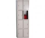 Металлический шкаф для вещей и одежды Практик LS-24, 8 ячеек