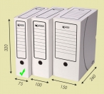 Лоток-коробка А4 75мм (Арт.203)