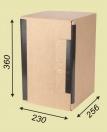 Архивный короб вертикальный (Арт.366), 20 шт, гофрокартон, замок-липучка