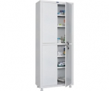 Медицинский шкаф Промет MED 2 1670/SS, 4 двери, 2 ключевых замка, 4 полки