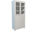 Медицинский шкаф Промет Hilfe MD 2 1780 R-5, 3 двери, 2 ключевых замка, 4 полки, 5 ящиков