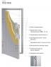 Дверь ФЛИП (2050/880-980/104R/L)