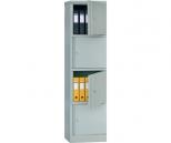 Архивный (офисный) шкаф Практик AM 1845/4 на 4 ячейки с ключевыми замками