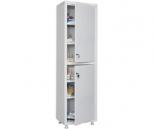 Медицинский шкаф Промет MED 1 1650/SS, 2 двери с ключевыми замками, 4 полки