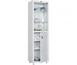 Медицинский шкаф Промет MED 1 1650/SG, 2 двери, 1 ключевой замок, 4 полки