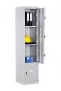 Металлический шкаф для вещей и одежды Локер LC 4, 4 ячейки