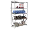 Складской стеллаж MS Pro 250/1500x600, металлический, сборно-разборный, 5 полок